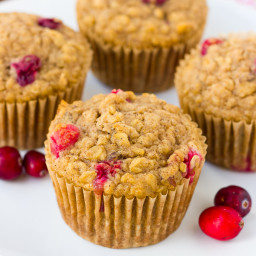 Gluten-Free Healthy Oatmeal Cranberry Muffins {Dairy-Free}