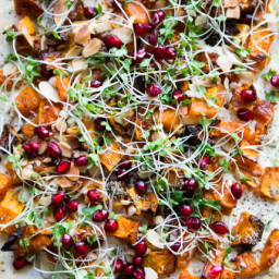 Gluten-Free Holiday Appetizer: Flatbread with Roasted Butternut Squash