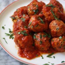 Gluten-Free Italian Baked Chicken Meatballs