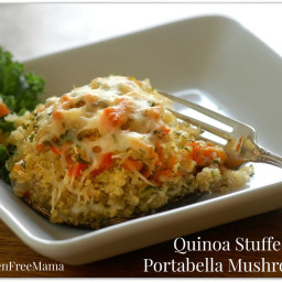 Gluten Free Mama's Quinoa Stuffed Portabella Mushrooms or Zucchini