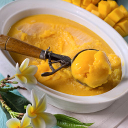 Gluten-Free Mango and Coconut Milk Ice-Cream Recipe