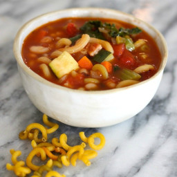 (Gluten Free) Minestrone Soup with Quinoa Pasta and Pancetta
