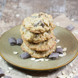 Gluten-Free Oatmeal Chocolate Chunk Cookies