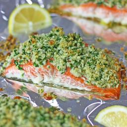 Gluten-Free Panko Crusted Salmon