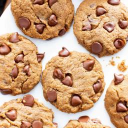 Gluten Free Peanut Butter Chocolate Chip Cookies (Vegan, GF, Dairy-Free, Re