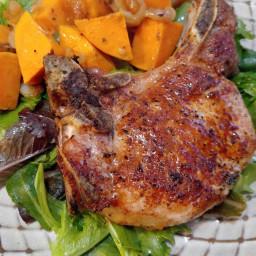 Gluten Free Pork Chops with Sweet Potatoes