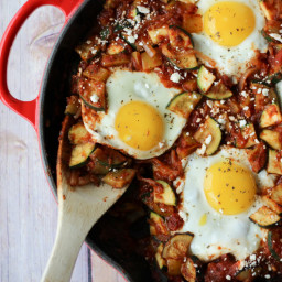 Gluten Free Shakshuka Recipe with Zucchini and Feta   Healthy and Vegetaria