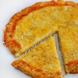 {Gluten-Free} Spaghetti Squash Pizza Crust