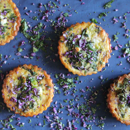 Gluten Free Spinach, Broccoli and Red Cabbage Tarts
