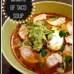 Gluten Free Taco Soup ---Tasty and with a kick!