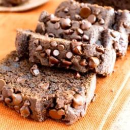 Gluten Free Vegan Chocolate Pumpkin Bread (V, GF, Dairy-Free, Refined Sugar