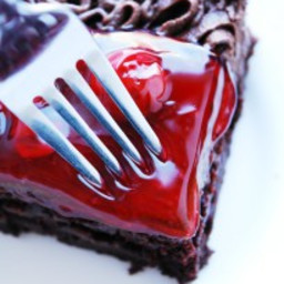 Gluten-free Vegan Double Cherry Chocolate Cake (Gluten, dairy, egg, soy, pe