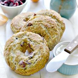Gluten-Free Vegan Cranberry Orange Bagels