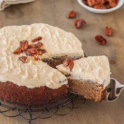 Gluten free Banana Cake with Cinnamon Cream Cheese Frosting