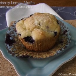 Gluten Free Fresh Blueberry Lemon Muffins
