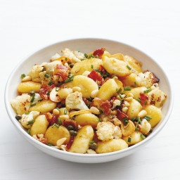 Gnocchi with Bacon and Roasted Cauliflower
