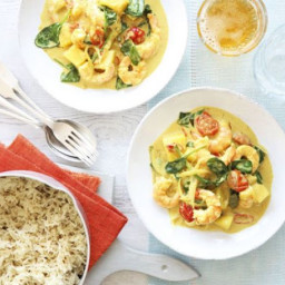 Goan prawn and coconut curry with cumin rice