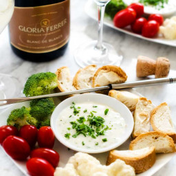 Goat Cheese and Gruyere Fondue
