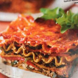 Goat Cheese and Three-Greens Lasagna