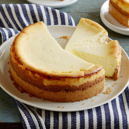 Goat Cheese Cheesecake with Spiced Wafer Crust