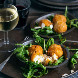 Goat Cheese Croquettes with Honey and Toasted Almonds