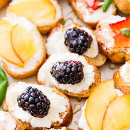 Goat Cheese, Honey & Fruit Crostini
