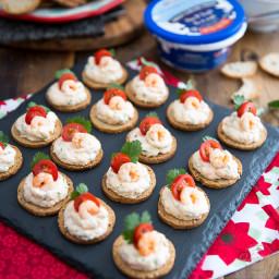 Goat Cheese Shrimp Dip and Canapés