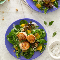 Golden Beet, Green Bean and Fennel Salad with Scallops