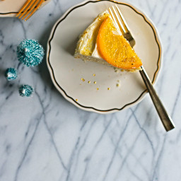 Golden Ginger and Orange Cake with Cream Cheese Frosting