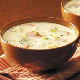Golden Potato and Ham Soup Recipe