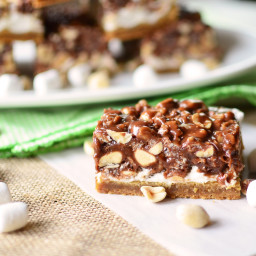 Gooey Chocolate Peanut Bars