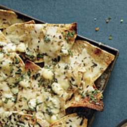 Gorgonzola and Fontina Nachos with Fennel and Mint