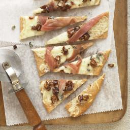 Gorgonzola Flatbreads with Prosciutto and Dates