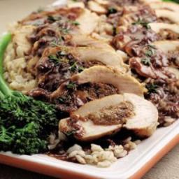 Gorgonzola and Prune Stuffed Chicken