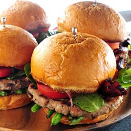 Gourmet Burger with Garlic and Rosemary Mayo