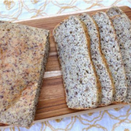 Grain Free High Protein and Fiber Bread (xanthan/guar gum free)