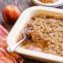 Grain-Free Peach Crisp (Vegan, Paleo)