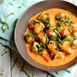 Grain-Free Thai Coconut Curry Turkey Meatballs