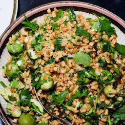 Grain Salad with Olives and Whole-Lemon Vinaigrette