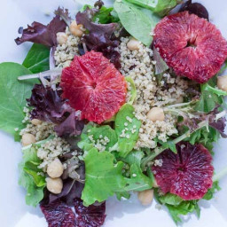 Grains & Greens: Baby Lettuces, Blood Oranges, Quinoa & Chickpeas
