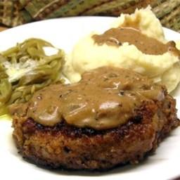 Grandma's Pork Chops in Mushroom Gravy