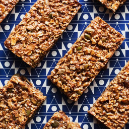 Granola Bars with Dried Fruit and Seeds