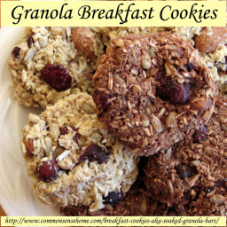 Granola Breakfast Cookies with Dried Fruit and Crispy Nuts