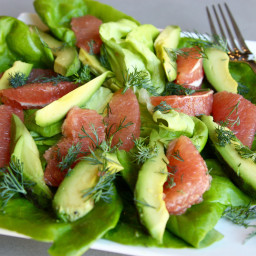 Grapefruit and Avocado Salad with Dill