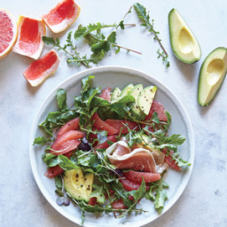 Grapefruit, Avocado, and Prosciutto Breakfast Salad