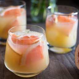 Grapefruit Bourbon Fizz