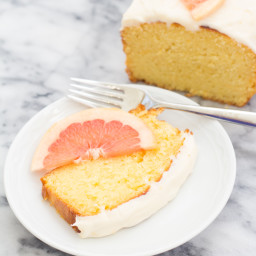 Grapefruit Ricotta Cake with Cream Cheese Frosting