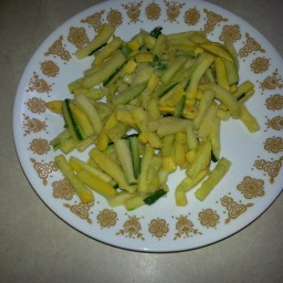 Grated Zucchini and Yellow Squash