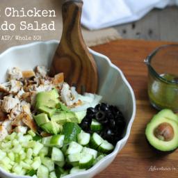 Greek Chicken Avocado Salad