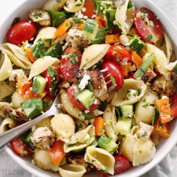 Greek Chicken Pasta Salad